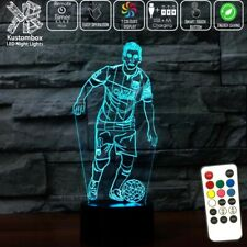 LIONEL MESSI NUMBER 10 FC BARCELONA  3D LED Night Light Lamp 7 Colour REMOTE