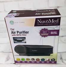 Nuvo Med Nuvomed Care Car Air Purifier Hepa Filter Portable Quiet Airborne Clean