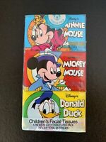 NEW Old Stock DISNEY MICKEY MOUSE 6 PACK OF Printed POCKET TISSUES Vintage