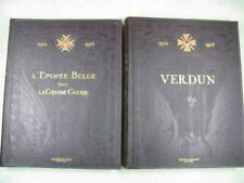 1914 - 1918 Verdun & l'épopée Belge dans la grande guerre - Livres 2 Tomes