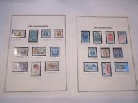 62 MINT & MOUNTED U.S. STAMPS 1960 - 1969 & 1934 - 1980 AIRMAILS - TUB BBA-7