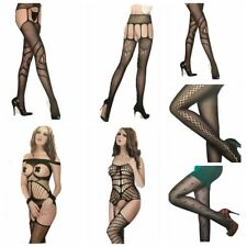 New Sexy Lady Fishnet Thighs High Body Stockings Pantynose Hosiery Pants Socks