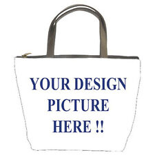 New Personalized Custom Your Logo Design Photo Text Bucket Bag free shipping