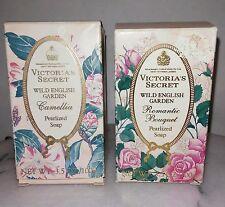 RARE 2-PACK VICTORIA'S SECRET WILD ENGLISH GARDEN PEARLIZED SOAP 3.5 OZ. 100 GR.
