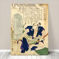 "Traditional Japanese SAMURAI Warrior Art CANVAS PRINT 16x12""~ Kuniyoshi  #109"