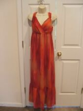 NWT a.n.a Color Streak Maxi Dress Pink Orange Red Size LARGE 14-16