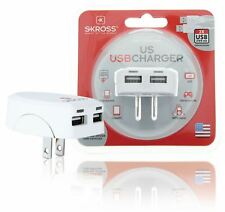Skross Travel Adapter USA USB Unearthed 1302730 Travel Adapter