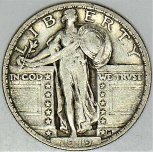 1919 Standing Liberty Quarter; Choice Original XF