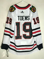 AUTHENTIC ADIDAS ADIZERO JERSEY CHICAGO BLACKHAWKS JONATHAN TOEWS WHITE SZ 54