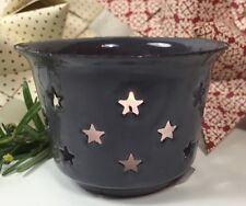Ib Laursen Sternenlicht Teelichthalter Emaille Sterne Grau Landhaus Vintage
