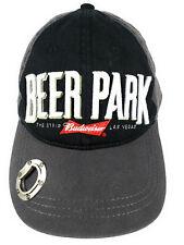 Beer Park Hat Budweiser The Strip Las Vegas Bottle Opener Gray & Black