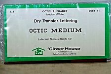 """Octic Medium Height 1/4"""" Dry Transfer Lettering By Clover House #9651-41-HO 712"""