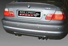 "SSXBM462 - For BMW E46 M3 & CSL Milltek Cat Back Resonated 2.37"" Exhaust"