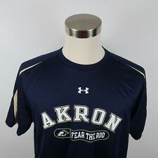 Akron Zips Fear the Roo Mens Polyester Heat Gear SS Navy T Shirt Under Armour M