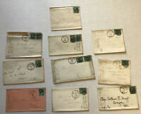 Group of 10 3ct banknote covers 1870s [y5955]