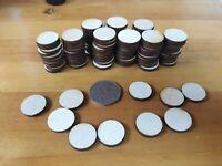 100x 20mm/2cm Wooden Circle Craft Shapes Wood DIY Decoration Disc Plaque