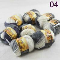 Sale Lot 8 Skeins NEW Knitting Yarn Chunky Hand-woven Colorful Wool scarves 04