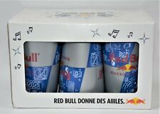 RED BULL Energy drink coffret 6 verres plastiques NEUF