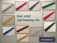 ***NEW*** Lego Part 4162 1x8 Flat Tile (Choose 2,4,6,8,10,12,15 or 20)