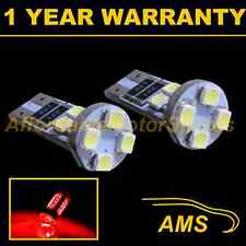 2X W5W T10 501 CANBUS ERROR FREE RED 8 LED SIDELIGHT SIDE LIGHT BULBS SL101605