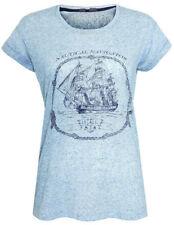 Linen Crew Neck Tops & Shirts for Women