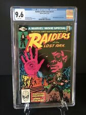 Raiders Of The Lost Ark #1 Marvel Movie Adaptation Sep. 1981 Graded CGC 9.6 NM+