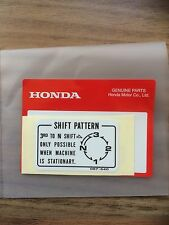 Genuine Honda Rotary Shift Decal Z50 ST70 Monkey Bike Dax C50 Cub 50 Chaly