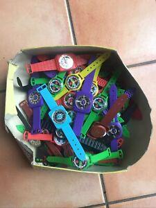 Lot ancienne montre jouet plastique enfant Child watch Vintage Année70-80