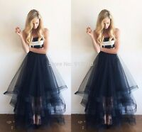 Layered Asymmetrica skirt five layers of tulle skirt women gown PROM dress