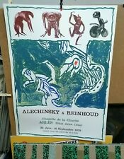 AFFICHE  ANCIENNE ALECHINSKY & REINHOUD CHAPELLE DE LA CHARITE ARLES 1979