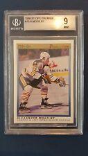 1990-91 OPC Premier Hockey #75 Alexander Mogilny Rookie card BGS 9 Mint! Sabres!