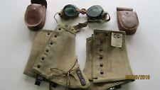 Original US Army WW2 10th Mountain Division Goggles & Leggings