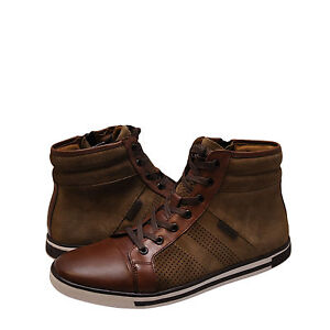 Men Shoes Kenneth Cole Initial Point High Top Sneakers KMS7LW005 Brown *New*