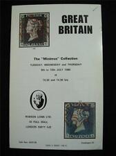 "Robson LOWE ASTA CATALOGO 1980 GB ""Minimus Collection"""