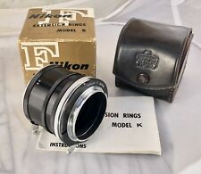 Nikon F Extension Rings Set Model K. With Case, Box & Instructions. Exc Cond.
