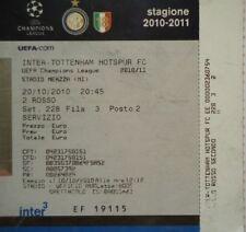 TICKET UEFA CL 2010/11 Inter Milan - Tottenham Hotspur