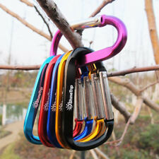 10X D Ring Shape Carabiner Spring Snap Key Chain Clip Hook Lock Alloy Buckle
