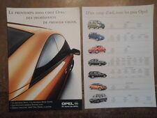 OPEL gamma ORIG 2000 Swiss Mkt opuscolo in francese + prezzi-Corsa Tigra Omega