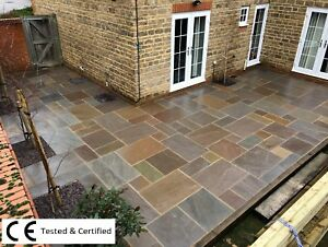 🍂 Autumn Blend 19.5m2 Indian sandstone paving slabs flags OVER STOCK CLEARANCE