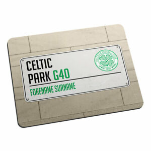 Celtic F.C - Personalised Mouse Mat (STREET SIGN)