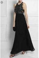 Diane von Furstenberg GIDGET ROUNDED CRYSTAL Cutout Gown long NEW DVF $845 Sz 14