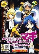 Magi:The Labyrinth Of Magic Season 2 - The Kingdom Of Magic DVD (Vol.1-25 end)