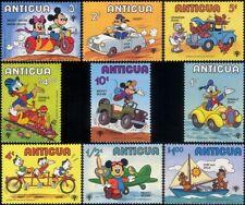 Antigua 1979 IYC/Disney/Train/Car/Bikes/Motorcycle/Plane/Cartoon 9v set (b1605h)