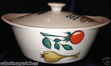 "VILLEROY BOCH LUXEMBOURG VIL165 9 3/8"" COVERED VEGETABLE BOWL VEGETABLES MOTIF"