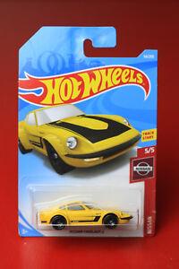 HOT WHEELS Nissan Fairlady Z yellow NISSAN series. Long Card 5/5