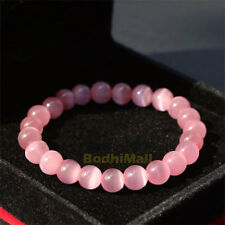 Pink Opal Natural Stone 10mm Beads Bangle Bracelet