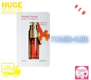 Clarins Double serum 7 X 0.9ML=6.3ML Women Anti-Aging  * Brand New *
