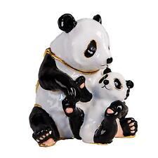 More details for panda bear + baby trinket box / ornament gift *new*