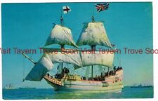 1960s Unused DICOVERY II Ship landed at Jamestown Virginia Postcard