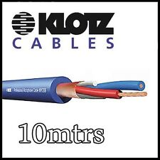 Klotz MY206 Professional Microphone Cable 10 metre Blue